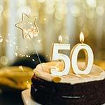 Glückwünsche zum 50. Geburtstag