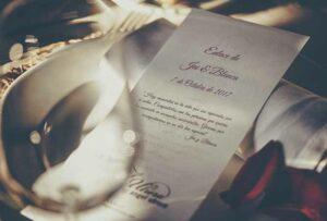 Hochzeitswünsche auf einer Karte